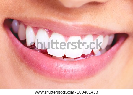 Healthy woman teeth. Dental health. - stock photo