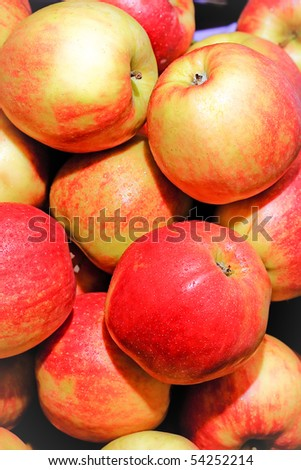 heap of apples - stock photo