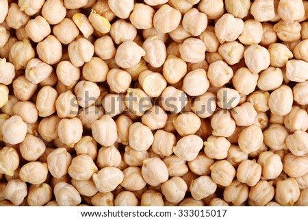 Heap of chick-pea close up - stock photo