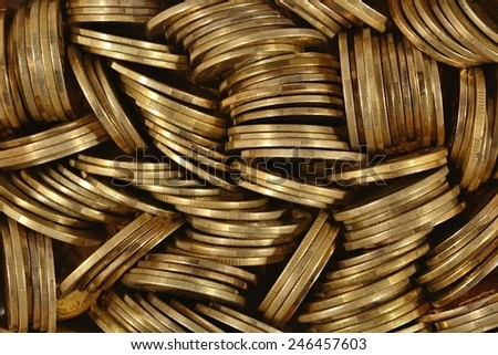 Heap of coins close up  - stock photo