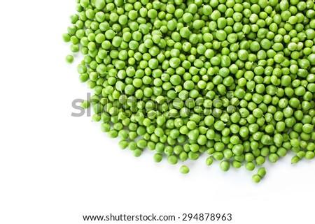 Heap of fresh green peas close up - stock photo