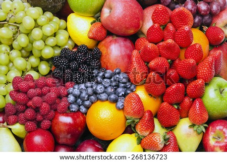Heap of fruits - stock photo