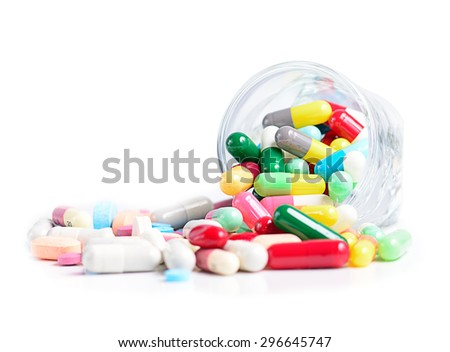 Heap of medicine pills. - stock photo