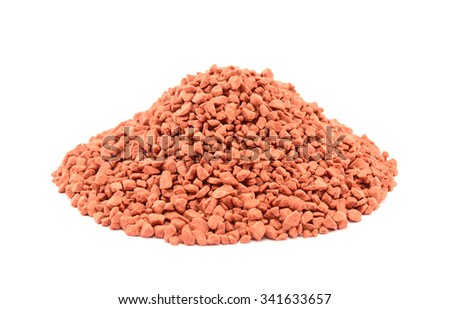 Heap of mineral fertilizers, isolated on the white background - stock photo