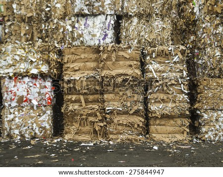 Heap of waste paper as a background - stock photo