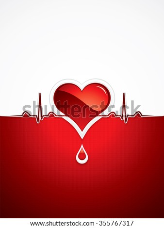 Heart and heartbeat symbol.Medical - stock photo