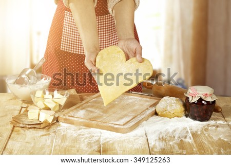 heart and kitchen  - stock photo