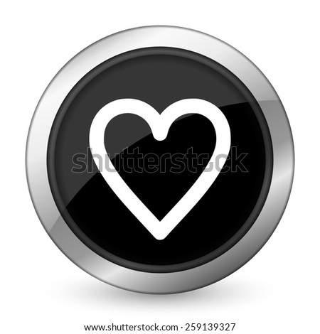 heart black icon love sign  - stock photo