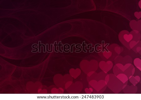 Heart bokeh background - stock photo