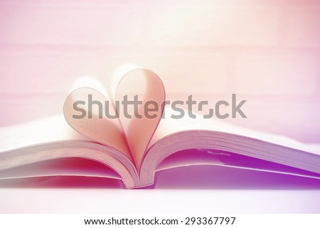 Heart book - pastel effect - stock photo