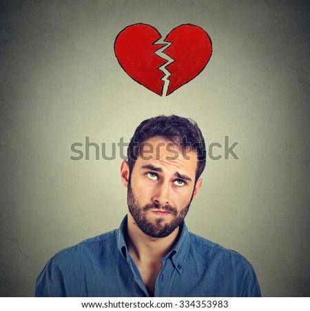 Heart broken man  - stock photo