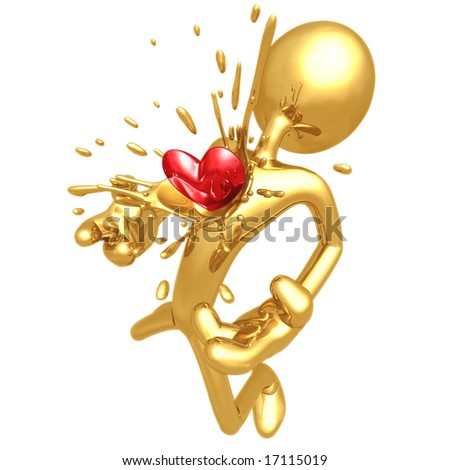 Heart Burst - stock photo