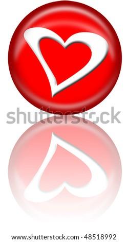 Heart Button - stock photo