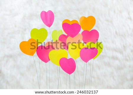 Heart, colorful, background, Cream - stock photo