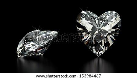 Heart  Cut Diamond - stock photo