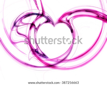 heart design in shades pf purple - stock photo