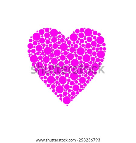 heart design pink colour - stock photo