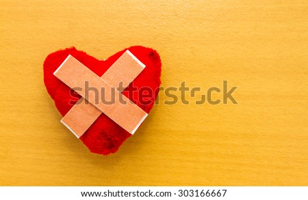 Heart for herb on background. - stock photo
