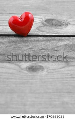 Heart for love, Valentines Day background, copy space. - stock photo