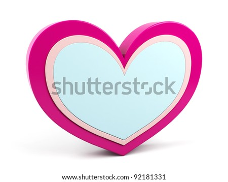 heart for text - stock photo