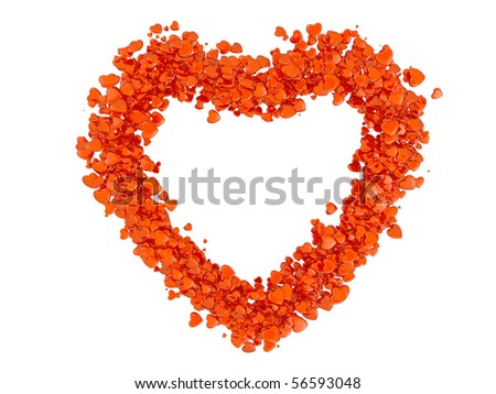 Heart formed from small hearts - stock photo