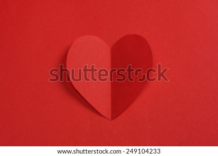 Heart from paper :Valentines day: Valentines Card - stock photo