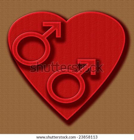 heart gay love boys - stock photo