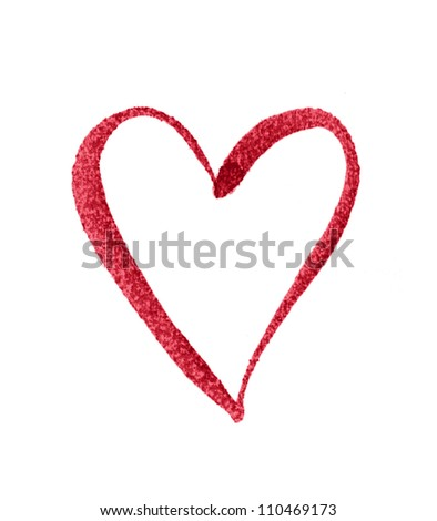 Heart (Hand Painted) - stock photo