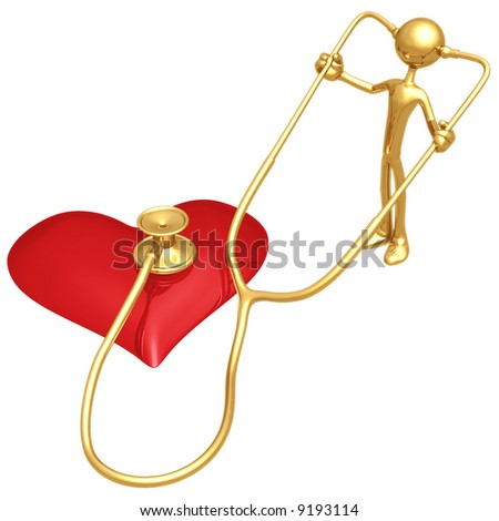 Heart Health Stethoscope - stock photo
