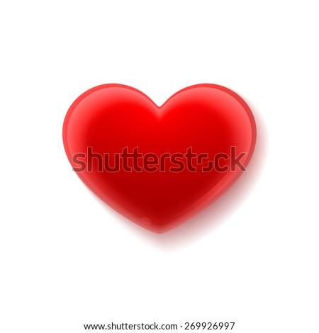 Heart. Illustration isolated on white background. Raster copy. - stock photo
