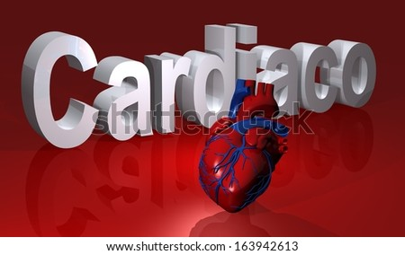 heart illustration with red bottom     - stock photo