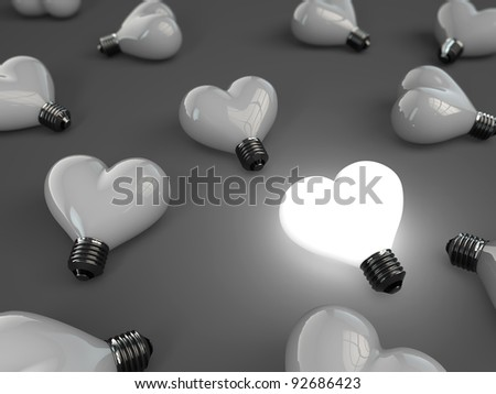 heart lamp - stock photo