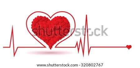 Heart monitor - stock photo