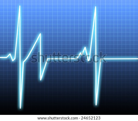 Heart monitor background - stock photo