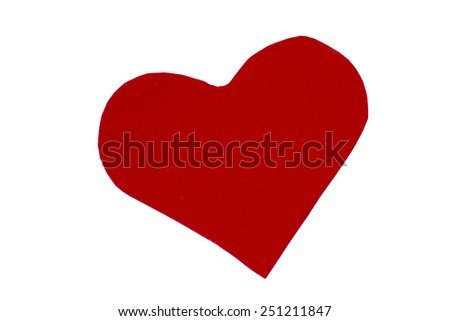 heart of paper - stock photo