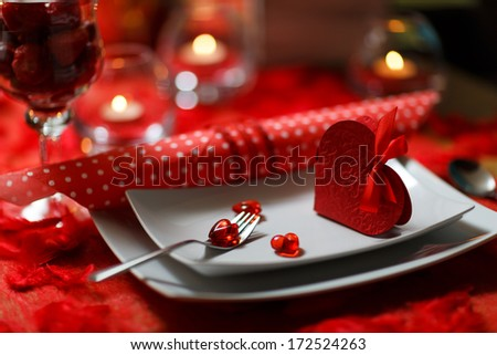 Heart on fork, Valentines Day - stock photo