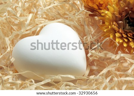 Heart on the straw - stock photo