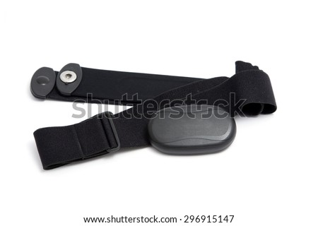 heart rate monitor chest strap - stock photo