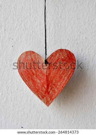 heart rope romantic love vintage background - stock photo