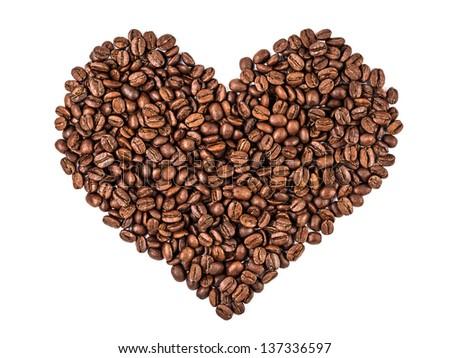 heart shape coffee - stock photo