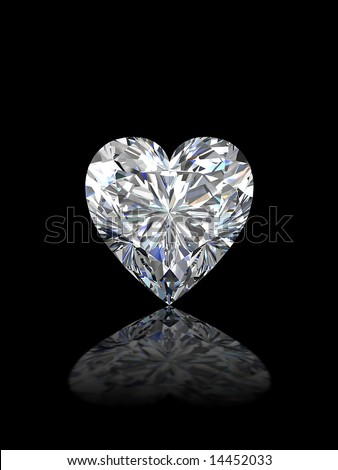 Heart shape diamond - stock photo