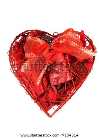 Heart shape gift - stock photo