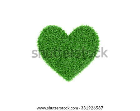 Heart shape Grass - stock photo