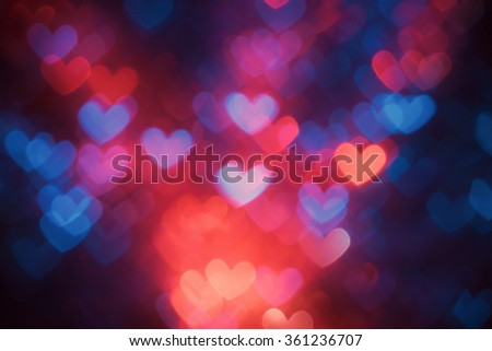 Heart shaped abstract background on Valentines day - stock photo