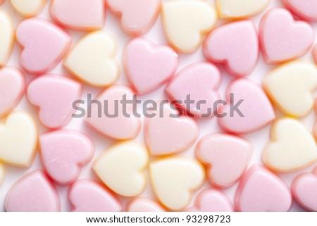 Heart shaped chocolates - stock photo