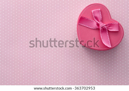 Heart shaped gift box - stock photo