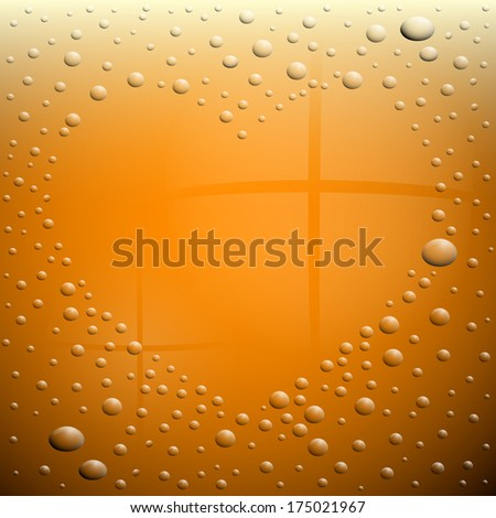 Heart Symbol on Wet Beer Glass - Also Available in Vector Version  - stock photo