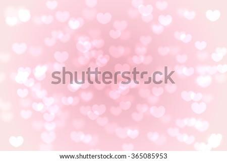 Heart valentine light pink background - stock photo