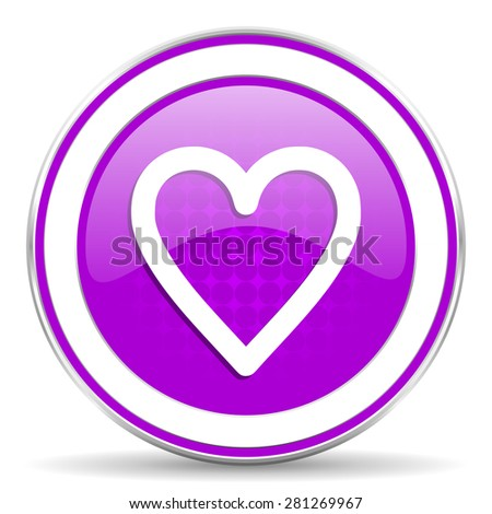 heart violet icon love sign