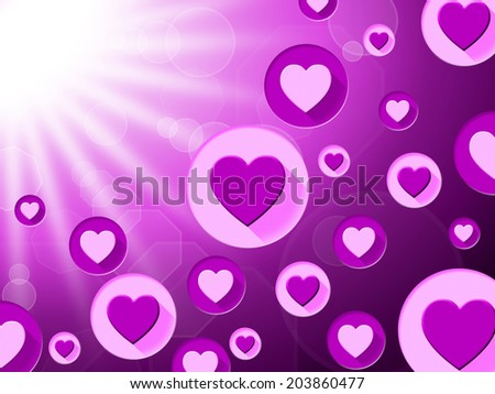 Hearts Copyspace Showing Valentine Day And Love - stock photo